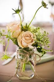Mason Jar Flower Centerpieces | Casual At Home Wedding Reception in  Maryland | Washington DC Weddings