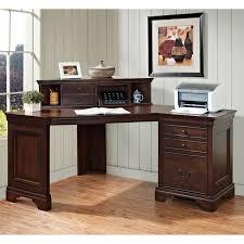 office furniture desk vintage chocolate varnished. Furniture. Incredible Hutch Office Desk With Corner Shape Design Combined Wooden Varnishing Materials Also Angular Furniture Vintage Chocolate Varnished R