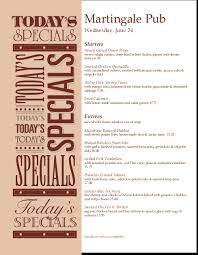 specials menu daily specials menus musthavemenus