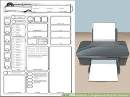 dungeons and dragons character sheet online how to create a dungeons and dragons character with pictures