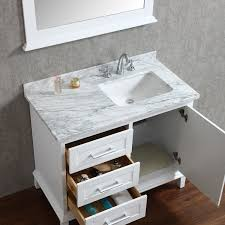 single white bathroom vanities. Ariel By Seacliff Nantucket 42\ Single White Bathroom Vanities