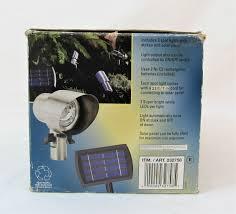 Solar Garden Lights Ebay Set Of Three Solar Panel Accent Spot Lights