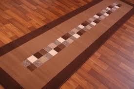 runner rug dark chocolate brown modern long hall carpet mats new 9 sizes floor