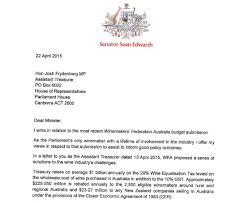 Senator S Letter Shocks The Australian Wine Industry The