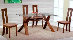 modern glass dining room table magnificent wooden dining table with glass top dining room top round
