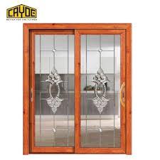 China Supplier Sliding Door Track Aluminum Big Kitchen Door Glass