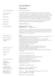 Interpreter Resume Samples Freelance Sample Graphic Design ...