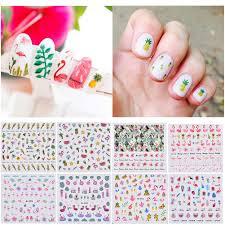 1ks 3d Diy Barevné Flamingo Ovoce Annimal Nehty Nálepka Nail Art