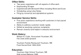 Resume Qualifications Example Cashier On Resume