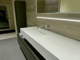 recessed led linear light contemporary bathroom