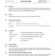 Sample Audit Report With Recommendations Project Template