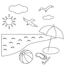 無料の海とビーチのぬりえ ぬりえパーク