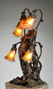 antique lighting art deco. gustav gurschner (1873-1971) art nouveau table lamp antique lighting deco g