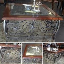 wrought iron and wood furniture. Coffee Table Wrought IronWood 28895 Iron And Wood Furniture U