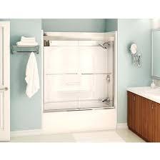 tub shower doors enclosures frameless sliding glass bathtub door no bottom track