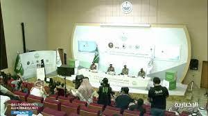 """هيفاء الهلالي on Twitter: """"الجندية عبير الراشد تقدم المؤتمر الصحفي لقيادات  أمن #الحج , حضور مميز 🇸🇦🇸🇦… """""""