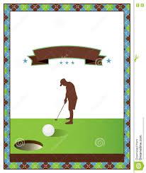 Blank Golf Tournament Flyer Template Stock Vector