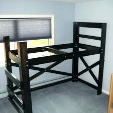 loft bed plans op beds for four big guys with slide how to build a diy full desk plan