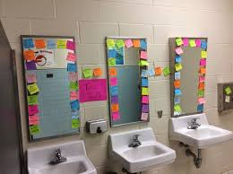 middle school bathroom. Not The Stickies But Laminated Signs Focusing On Self Esteem For Girls Bathrooms At School. Middle School Bathroom L