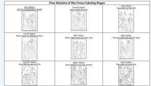 Stations Of The Cross For Children Coloring Pages Free Coloring
