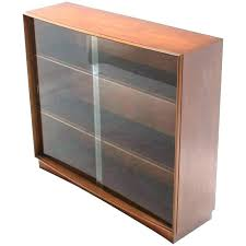 glass door bookshelf with doors bookcase cabinet sliding mid century modern for at bookcases plans