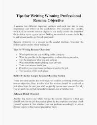 Professional Resume Objective 68 Elegant Photos Of Resume Writing Objective Section