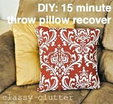 How To Cover Throw Pillows