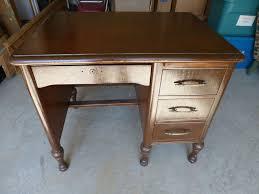 office furniture desk vintage chocolate varnished. Vintage Solid Wood Antique Desk Imperial Desks Evansville IN Small Brown Heavy Office Furniture Chocolate Varnished U
