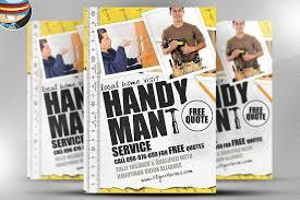 Handyman Flyer Template Simple Handyman Flyer Template Flyer Templates Creative Market