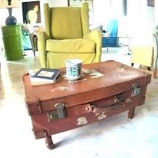 luggage coffee table vintage baggage cart railroad