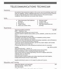 Telecommunication Resume Telecommunications Technician Objectives Resume Objective