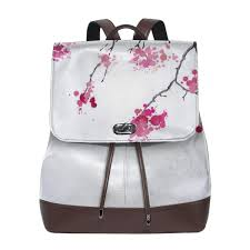 Womens Designer Backpack Purse Amazon Com Cherry Blossoms Spring Branches Womens Pu