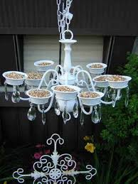 turn an old chandelier into a bird feeder these are the best
