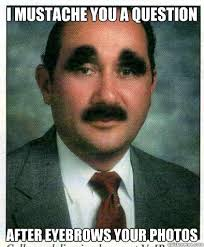Bitches be like my eyebrows are naturally thick - Eyebrows - quickmeme via Relatably.com