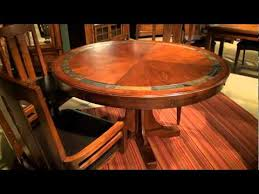 craftsman home round convert a height pedestal dining table by riverside furniture