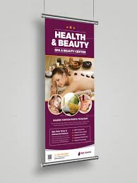 Spa Banner Design Spa Beauty Roll Up Banner Signage Indesign Roll Beauty