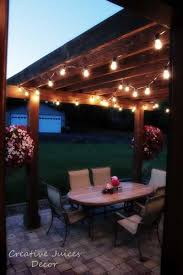covered patio lights. Adding String Patio Lights To The Pergola! Best Prices I Found On Good Black Wire Hanging Industrial Looking Lights. Researched For A LONG Time! Covered