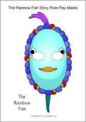 rainbow fish outline full page rainbow fish teaching resources story sack printables sparklebox