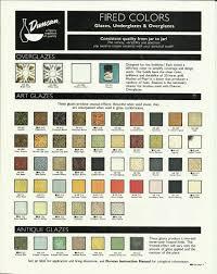 Duncan Art Glaze Color Chart Ceramics In 2019 Art Glaze