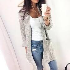 <b>ROPALIA Women</b> Autumn <b>Fashion</b> Long Sleeve Loose Knitting ...