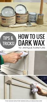 diy tutorial antiquing wood. a diy tutorial on how to use dark wax antique furniture antiquing wood