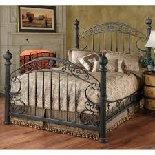 Metal Bed Bedroom Chesapeake Iron Bed In Rustic Old Brown By Hillsdale Furniture