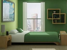green bedroom decorating ideas, green bedding and wall paint colors