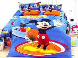 boy twin sheet mickey mouse basketball bedding set boys bedclothes single twin size bed comforter boy boy twin sheet