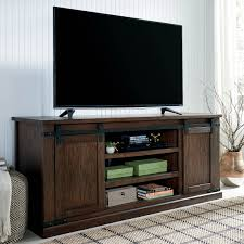 tv stand with barn doors ashley budmore sliding media