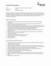 Best Solutions Of Electrician Foreman Resume Sample Cool