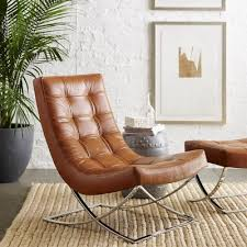 small leather chair. James Nickel \u0026 Leather Chair #williamssonoma Comes In Tan, Ivory, Grey, Black Small P