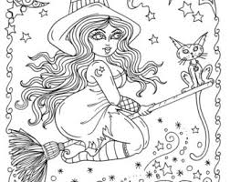 Small Picture Witch coloring page Etsy