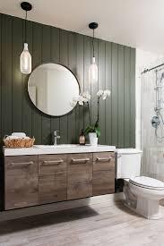 Guest Bathroom Remodel Wood Vanity Vanities And Dark
