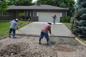 pour concrete patio new spreading and finishing concrete opp concrete wichita